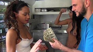 Paying beautiful and exotic Yasmin