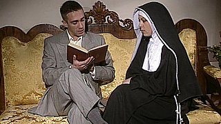 Shy Nun gets her ass fucked and face spermed Thumbnail