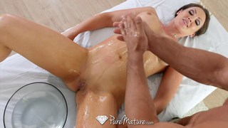 Beautiful Yasmin gets drenched in oil and fucked Thumbnail