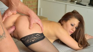 First hardcore video for hot amateur milf