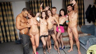 Orgy at crazy students sex party