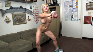 Athletic chick Cristi Ann demonstrates her flexibility Thumbnail