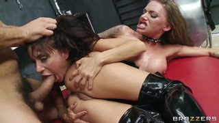 Ramon and two hot and horny ladies Gia DiMarco and Juelz Ventura