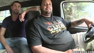 Horny dudes pick up sweet Zenya Lai and fucks her in their van Thumbnail