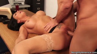 Rachel Starr fucking with Johnny Castle in office Thumbnail