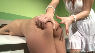 Betty Stylle and Katy Parker in lesbo bondage