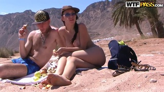 Girl gives blow and handjob to her boyfriend Thumbnail
