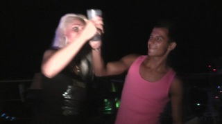 Margo & Aspen & Jocelyn in beautiful girl gives handjob while on porn weekend Thumbnail