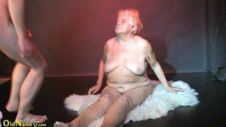 Oldnanny - Fat granny, big mature and her boyfriend Thumbnail