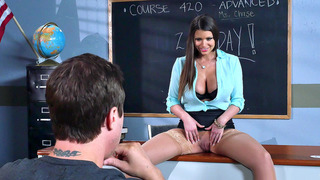 New teacher Brooklyn Chase seducing her student Thumbnail