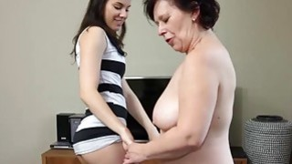 OldNanny Plump mature and pretty teen with strapon