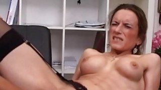 Horny milf fisted ass fucked and jizzed in her fac Thumbnail
