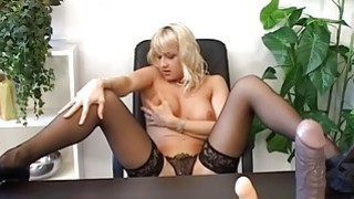 Tight analhole fisting on the table Thumbnail