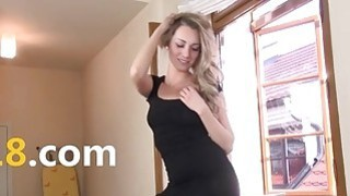 Hard pussy vibrating of this beautiful table whore Thumbnail