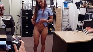 Desperate girl sucks off and gets fucked in the backroom Thumbnail