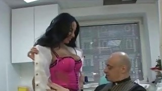 Doctor Anissa Kate seduces lucky patient in her office Thumbnail