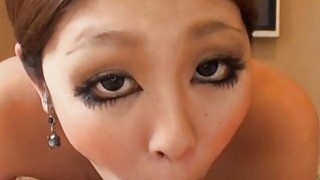 Beautiful asian honey gives wild titty fuck