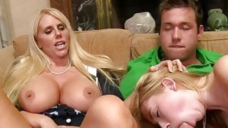Huge hooters milf Karen Fisher threesome Thumbnail