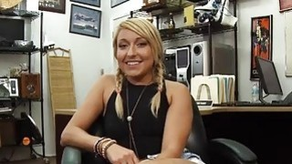 Beautiful amateur blonde babe banged by horny pawn guy Thumbnail