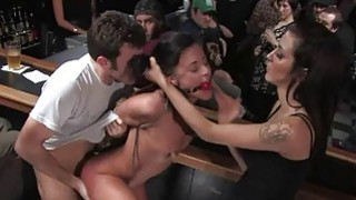 Cute serf receives a group torment for her twat Thumbnail