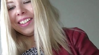 Blonde Russian fucks in staircase Thumbnail