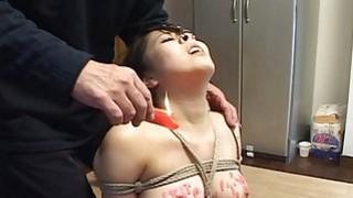 Subtitles Japanese BDSM hot wax play Thumbnail