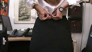 Perky tits brunette babe convinced to have sex by pawn guy Thumbnail