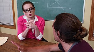 Sexy student turns on a cock-loving teacher Thumbnail