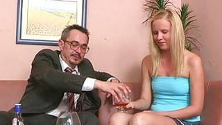 Excited older teacher is seducing babes beaver Thumbnail