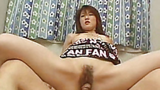 Hairy Asian amateur girlfriend fucks with facial Thumbnail
