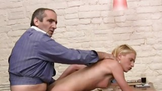 Hottie offers her pussy for teachers pleasure Thumbnail