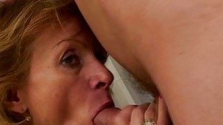 Mature Blonde Bent Over By Younger Guy Thumbnail
