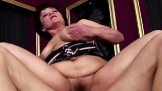 Hairy mature gets ass fucked and creampie Thumbnail