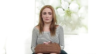 Eva deepthroats casting agents nice cock and rides it good Thumbnail