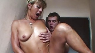European Blonde Mature Double Teamed By Yung Cocks Thumbnail