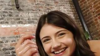 Hot kitten gives handjob and wants cumshot on her face Thumbnail