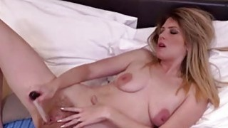 Small titted mature masturbating with dildo Thumbnail