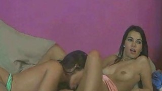Two Brunette Lesbians Fingering And Eating Pussy