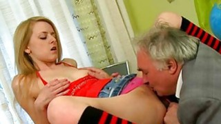Demure playgirl gets her pussy ravished by teacher Thumbnail