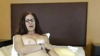 Big Tit Milf toying hairy pussy