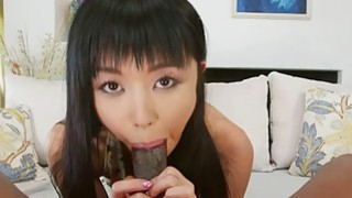 Big black cock invades that tight Asian pussy Thumbnail