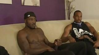 Skinny brunette whore railed by massive black cocks Thumbnail