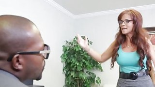 Milf busty secretary wants to keep job bangs BBC Thumbnail