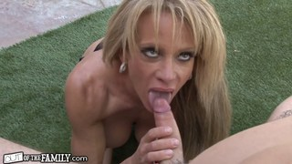 Pervy step mom ravishes her sons erect cock Thumbnail