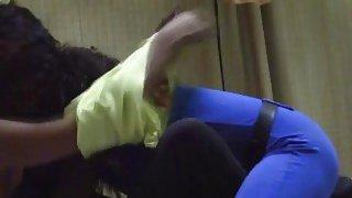 African lesbian Aisha seriously rimjob licking pure sweet pussy Lisha hot babe