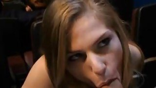 Skillful cutie stuffs her throat with hard dick Thumbnail