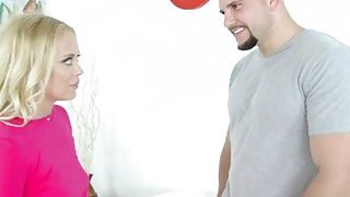 Sexy blonde Brice Bardot fucked by her stepbro huge dick Thumbnail