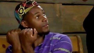 Big ass ebony gives blowjob and gets fucked in hot porn parody Thumbnail