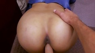 Brunette hottie railed by horny pawn guy Thumbnail