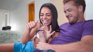 Latina Vienna Black gives slobbery blowjob to lucky guy Thumbnail